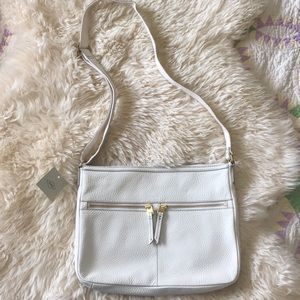 White leather fossil bag new with tags
